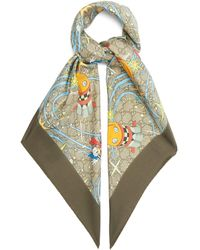 Gucci X Disney ドナルドダック シルクツイルスカーフ - マルチカラー