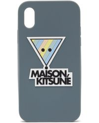 Maison Kitsuné Maison Kitsuné トライアングルフォックス Iphone X ケース - ブルー