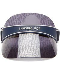 Dior Club オブリークモノグラム レンズバイザー - ブルー