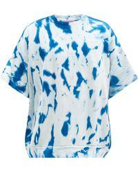 The Elder Statesman Tie-dyed Cotton-blend Jersey T-shirt - Blue