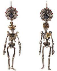 Alexander McQueen - Embellished-skeleton Earrings - Lyst