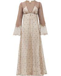 Myla Rosemoor Street Chiffon And Lace Nightgown - Multicolour
