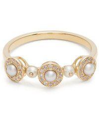 Anissa Kermiche - Diamond, Pearl & Yellow-gold Ring - Lyst
