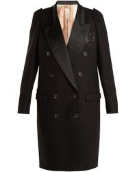 N°21 - Contrast-lapel Double-breasted Overcoat - Lyst
