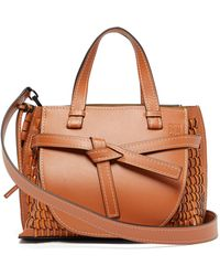 Loewe - Gate Woven Leather Tote Bag - Lyst