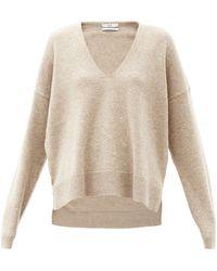 Co. V-neck Wool-blend Sweater - Natural
