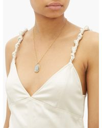 Eli Halili Labradorite & 22kt Gold Pendant Necklace - Metallic