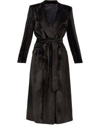 Blazé Milano Blazé Milano エトワール シルクブレンドベルベット ジャケットドレス - ブラック