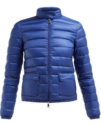 Moncler Lans Quilted Down Filled Jacket - Blue