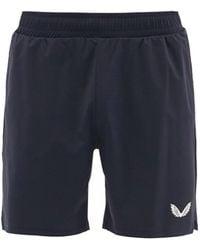 "Castore Logo-print 4"" Shorts - Blue"