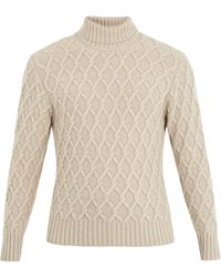 Inis Meáin Trellis Cable-knit Wool Jumper - Natural