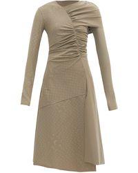 Marine Serre - Reflective Crescent Moon-print Ruched Dress - Lyst