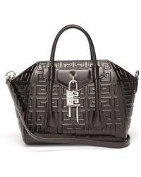 Givenchy アンティゴナ ロック ミニ 4gレザーバッグ - ブラック
