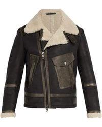 Neil Barrett - Shearling Leather Jacket - Lyst