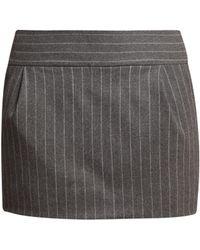 Alexandre Vauthier Pinstriped Wool Blend Mini Skirt - Multicolour