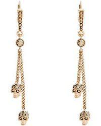 Alexander McQueen - Crystal-embellished Skull-drop Earrings - Lyst