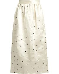 Jupe by Jackie | Open P Gala Polka-dot Embroidered Satin Skirt | Lyst
