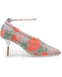 Jil Sander - Floral Brocade Bracelet-strap Court Shoes - Lyst