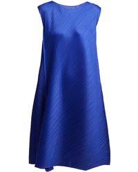 Pleats Please Issey Miyake - Pleated Sleeveless Midi Dress - Lyst