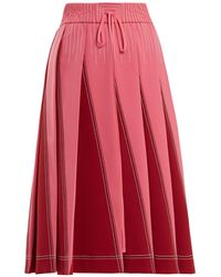 Valentino   A-line Pleated Jersey Skirt   Lyst