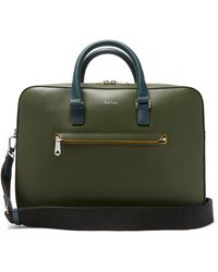 Paul Smith Embossed-leather Briefcase - Green
