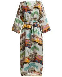 Chufy Savannah Safari-print Silk Kaftan - Multicolor