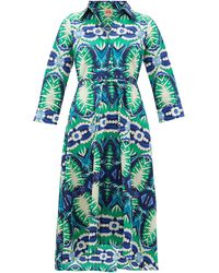 Le Sirenuse - Lucy Printed Cotton Dress - Lyst