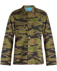 M.i.h Jeans - Camouflage-print Box-cut Jacket - Lyst