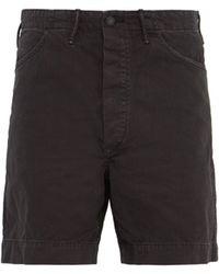 RRL Field Fit Cotton Herringbone Twill Shorts - Black