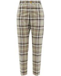 Vivienne Westwood Pantalon ajusté en laine à motif tartan George - Neutre