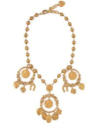 Dolce & Gabbana Cameo And Good Luck Charm Necklace