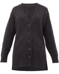 Proenza Schouler Rib-knitted Cashmere Cardigan - Grey
