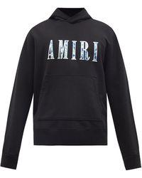 Amiri ペイズリー ロゴ スウェットパーカー - ブラック
