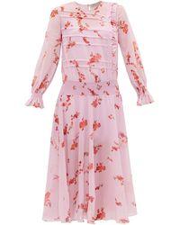 Preen Line - Gilda フローラルプリント シャーリングクレープドレス - Lyst