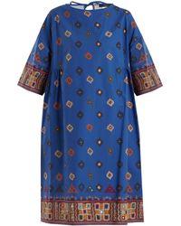 Weekend by Maxmara - Moroccan-print Cotton Dress - Lyst