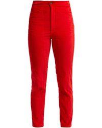 Aries Velvet Pants - Red