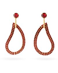 Zeus+Dione X Ileana Makri Lachouri Crystal Drop Earrings - Red