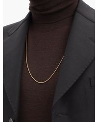 Fernando Jorge Thick 18kt Gold Snake-chain Necklace - Metallic