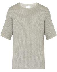 Saturdays NYC - T-shirt en coton à maille côtelée Pacho Split - Lyst