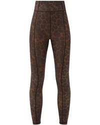 The Upside Leopard-print Stretch-jersey Leggings - Brown
