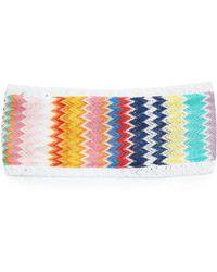 Missoni - Zigzag Knitted Headband - Lyst
