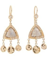Jacquie Aiche - Diamond, Labradorite & Yellow Gold Earrings - Lyst