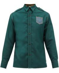 Maison Margiela パッチポケット ツイルシャツ - グリーン