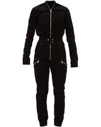 Rick Owens コーデュロイ ジャンプスーツ - ブラック
