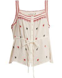 Mes Demoiselles - Fairy Square Neck Cotton Top - Lyst