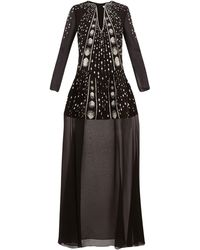 Givenchy Crystal-embellished Wool-crepe Gown - Black