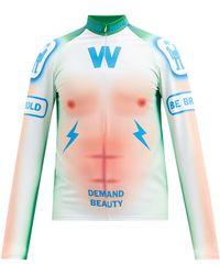 Walter Van Beirendonck Awake A New World Jersey Track Top - Blue