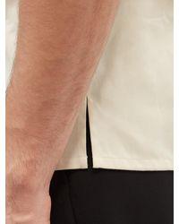 Alexander McQueen - キューバンカラー ロゴテープ コットンツイルシャツ - Lyst