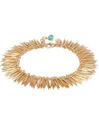 Ileana Makri Grass Leaves 18kt Gold Bracelet - Metallic