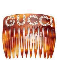 Embelli Cristal-logo-motif Gucci Peigne Cheveux bKlKEfjdcu